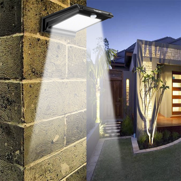 Lampara 20 led solar con sensor 150 lumenes asesoria valle del cauca colombia - Luces de pared exterior ...